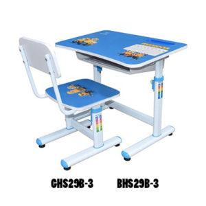Bộ bàn ghế học sinh BHS29B-3 màu xanh