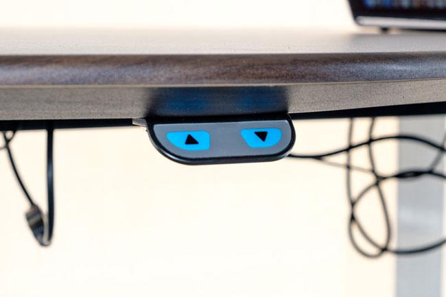Nút điều chỉnh của bàn thông minh hiện đại