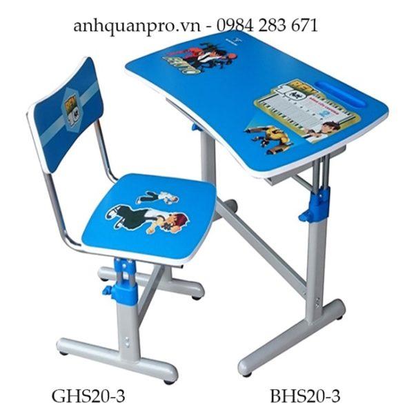 Bộ bàn ghế học sinh Hòa Phát BHS20-3 màu xanh