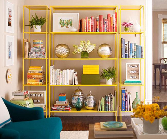 Kệ sách đẹp cho phòng khách