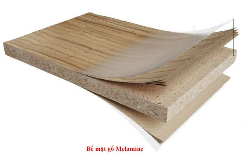 Bề mặt Melamine phù lên cốt gỗ