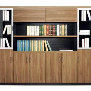 Tủ tài liệu gỗ 2 cánh kính TGC05 sang trọng và hiện đại
