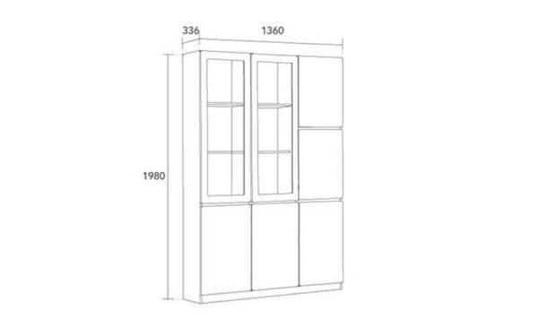 Bản vẽ thiết kế tủ gỗ TGC11