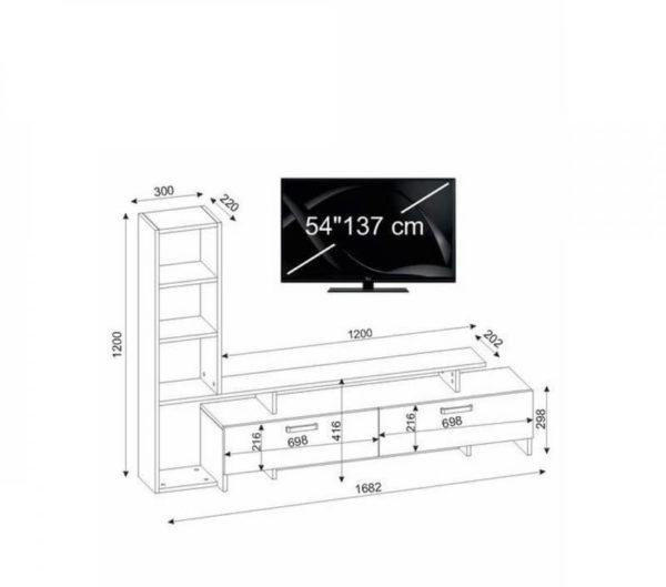 Kích thước kệ tivi KTV06