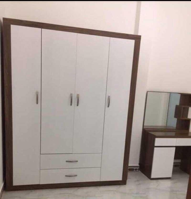 Tủ quần áo rộng 1600 cm 2 ngăn kéo và 4 cánh mở