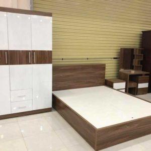 Giường gỗ MDF phủ Melamine giá rẻ G03