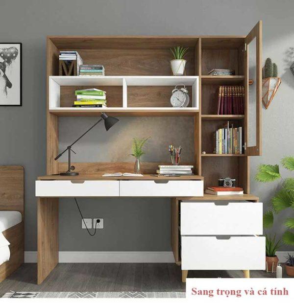 Thiết kế hiện đại , nhiều tính năng với giá sách kèm theo .