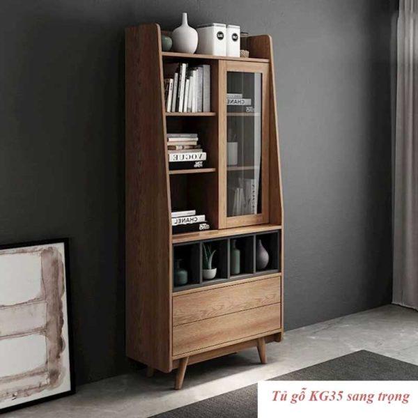 Tủ gỗ KG35 dùng trang trí , bày sách báo ...
