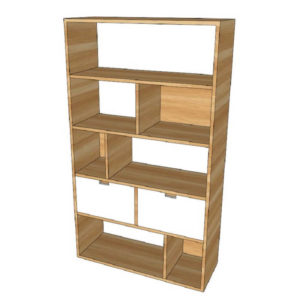 Tủ kệ gỗ đơn giản TGC24