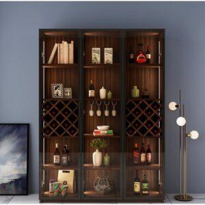 Kệ tủ rượu trang trí sang trọng và hiện đại KTR01